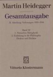 Heidegger Gesamtausgabe Bd. 50. Nietzsches Metaphysik (für Wintersemester 1941/42 angekündigt, aber nicht vorgetragen) Einleitung in die Philosophie - Denken und Dichten (Wintersemester 1944/45)
