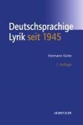 Geschichte der deutschsprachigen Lyrik seit