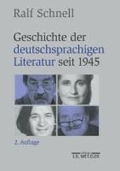 Geschichte der deutschsprachigen Literatur seit