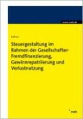 Steuergestaltung im Rahmen der Gesellschafter-Fremdfinanzierung, Gewinnrepatriierung und Verlustnutzung