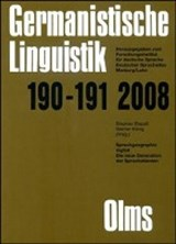 Germanistische Linguistik / Sprachgeographie digital | auteur onbekend |