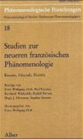 Studien zur neueren französischen Phänomenologie