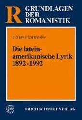 Die lateinamerikanische Lyrik 1892 -