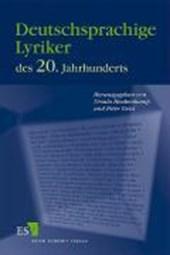 Deutschsprachige Lyriker des 20. Jahrhunderts