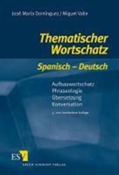 Thematischer Wortschatz Spanisch - Deutsch