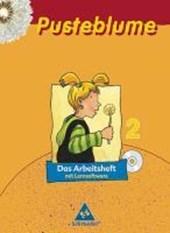 Pusteblume. Das Sprachbuch 2. Arbeitsheft mit Lernsoftware. Mitte / Nord