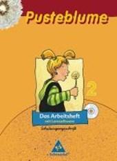 Pusteblume. Das Sprachbuch 2. Arbeitsheft Schulausgangsschrift mit Lernsoftware. Sachsen