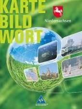 Niedersachsen. Karte Bild Wort. Grundschulatlas. Schülerband