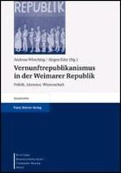 Vernunftrepublikanismus in der Weimarer Republik