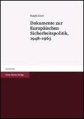 Dokumente zur Europäischen Sicherheitspolitik, 1948-1963