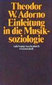 Einleitung in die Musiksoziologie