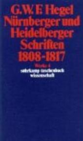 Nürnberger und Heidelberger Schriften 1808 -
