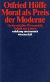 Moral als Preis der Moderne