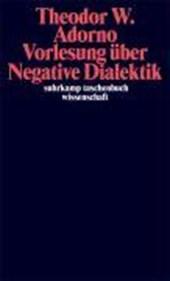 Vorlesung über Negative Dialektik