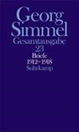 Briefe 1912 - 1918. Jugendbriefe | Georg Simmel |