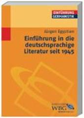 Einführung in die deutschsprachige Literatur seit
