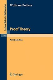 Proof Theory | Wolfram Pohlers |