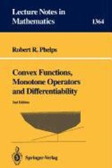 Convex Functions, Monotone Operators and Differentiability | Robert R. Phelps |