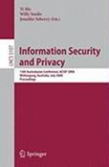 Information Security and Privacy | auteur onbekend |
