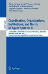 Coordination, Organizations, Institutions, and Norms in Agent Systems II | auteur onbekend |