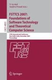 FSTTCS 2007: Foundations of Software Technology and Theoretical Computer Science |  |