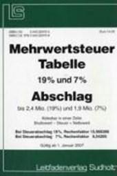 Mehrwertsteuer-Tabelle 2007 Abschlag