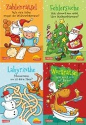 Pixi kreativ Serie Nr. 18: 4er Bundle: Lustige Weihnachtsrätsel