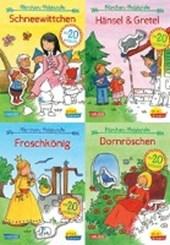 Pixi kreativ Serie Nr. 19: 4er Bundle: Meine Märchen-Malstunde mit Stickern