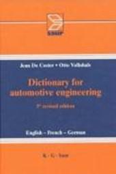 Wörterbuch für Kraftfahrzeugtechnik
