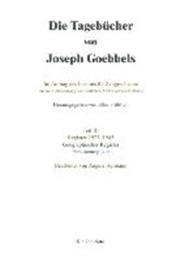 Goebbels, J: Tagebücher  Teil III Gegr.Reg.