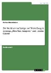 """Die Struktur von Intrige und Verstellung in Lessings """"Miss Sara Sampson"""" und """"Emilia Galotti"""""""