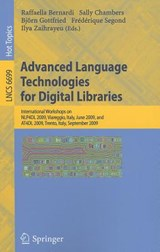 Advanced Language Technologies for Digital Libraries | auteur onbekend |