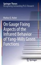 On Gauge Fixing Aspects of the Infrared Behavior of Yang-Mills Green Functions | Markus Q. Huber |