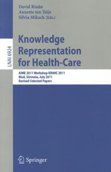 Knowledge Representation for Health-Care | auteur onbekend |