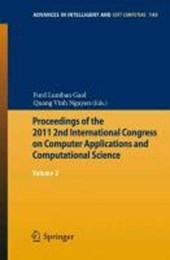 Proceedings of the 2011 2nd International Congress on Computer Applications and Computational Science |  |