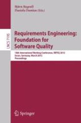 Requirements Engineering: Foundation for Software Quality | auteur onbekend |