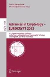 Advances in Cryptology -- EUROCRYPT