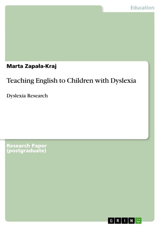 Teaching English to Children with Dyslexia