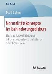 Normalitätskonzepte im Behinderungsdiskurs