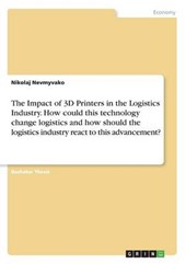 The Impact of 3D Printers in the Logistics Industry. How Could This Technology Change Logistics and How Should the Logistics Industry React to This Ad