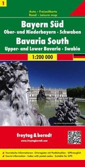 Deutschland 01 Bayern 1. Süd, Mitte 1 : 200 000. Auto- und Freizeitkarte