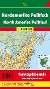 Nordamerika physisch-politisch 1 : 8 000 000 metallbestäbt in Rolle