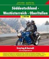 Süddeutschland. Westösterreich. Oberitalien 1 : 200 000. Motorradatlas