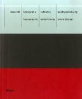 Max Bill: Typografie, Reklame, Buchgestaltung