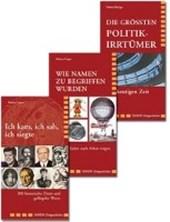 Ich kam / Wie Namen / Politikirrtürmer / 3 Bände