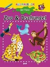 Malbuch - Zoo und Dschungel