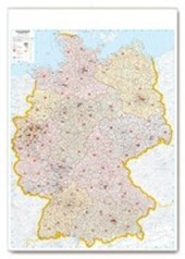 Postleitkarte Deutschland 1:700.000
