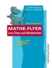 Dino T. Saurus' Mathe-Flyer zum Üben und Wiederholen
