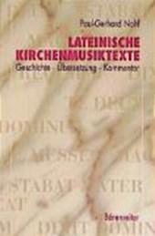 Lateinische Kirchenmusiktexte