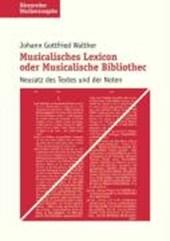 Musikalisches Lexikon oder musikalische Bibliothek. Studienausgabe